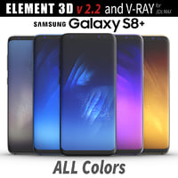 3D samsung galaxy s8 model