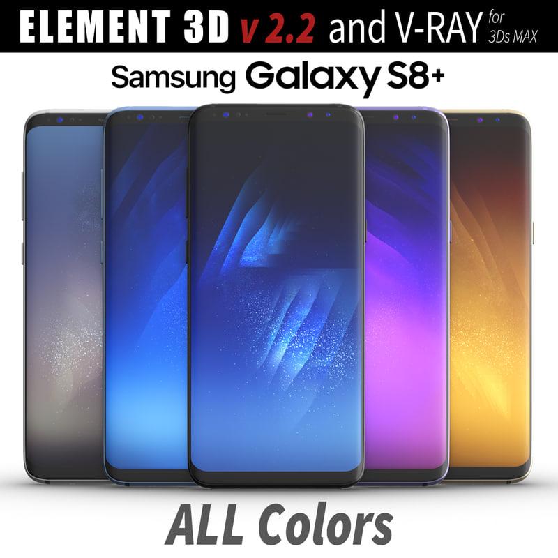 3D samsung galaxy s8 model