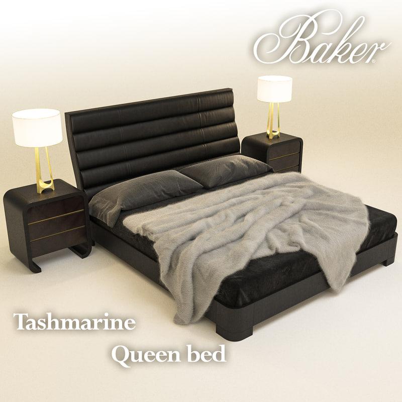 baker tashmarine queen bed 3D model