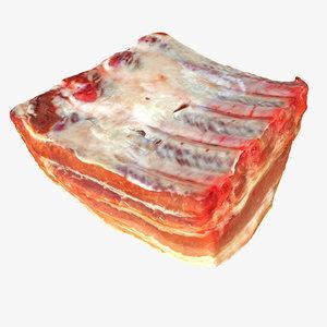 butcher meat goods 3D model