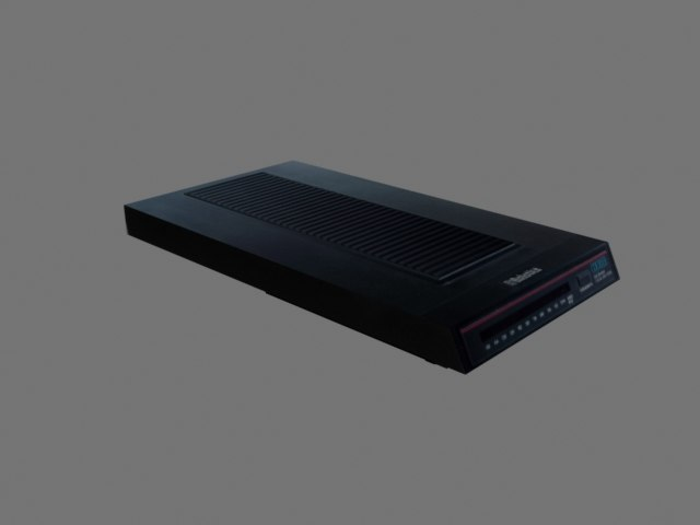3D old courier modem