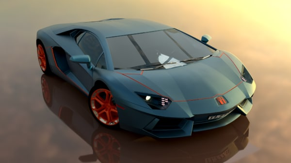 supercar blender new 3D model