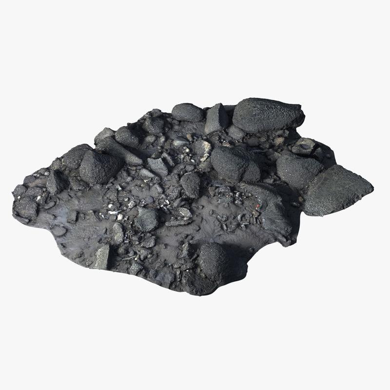 3D scanned coral rocks
