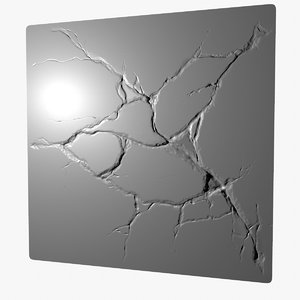 3D stone cracks sculpt model