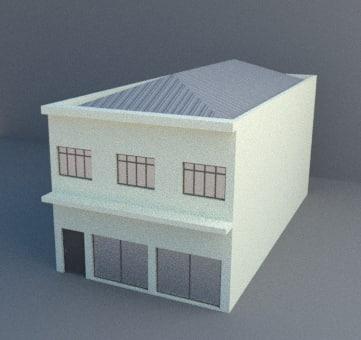 commercial building architecture 3D model