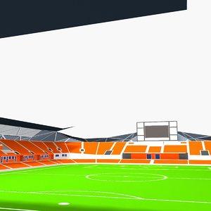 3D bbva compass stadium model
