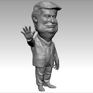 donald trump 3D model