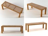 3D trama bench
