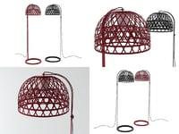3D emperor floor lamp model