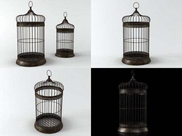 3D birdcage 02 model
