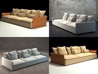 3D model resort sofa