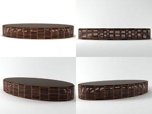 3D model eliptica table