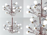 3D birdie pendant lamp model