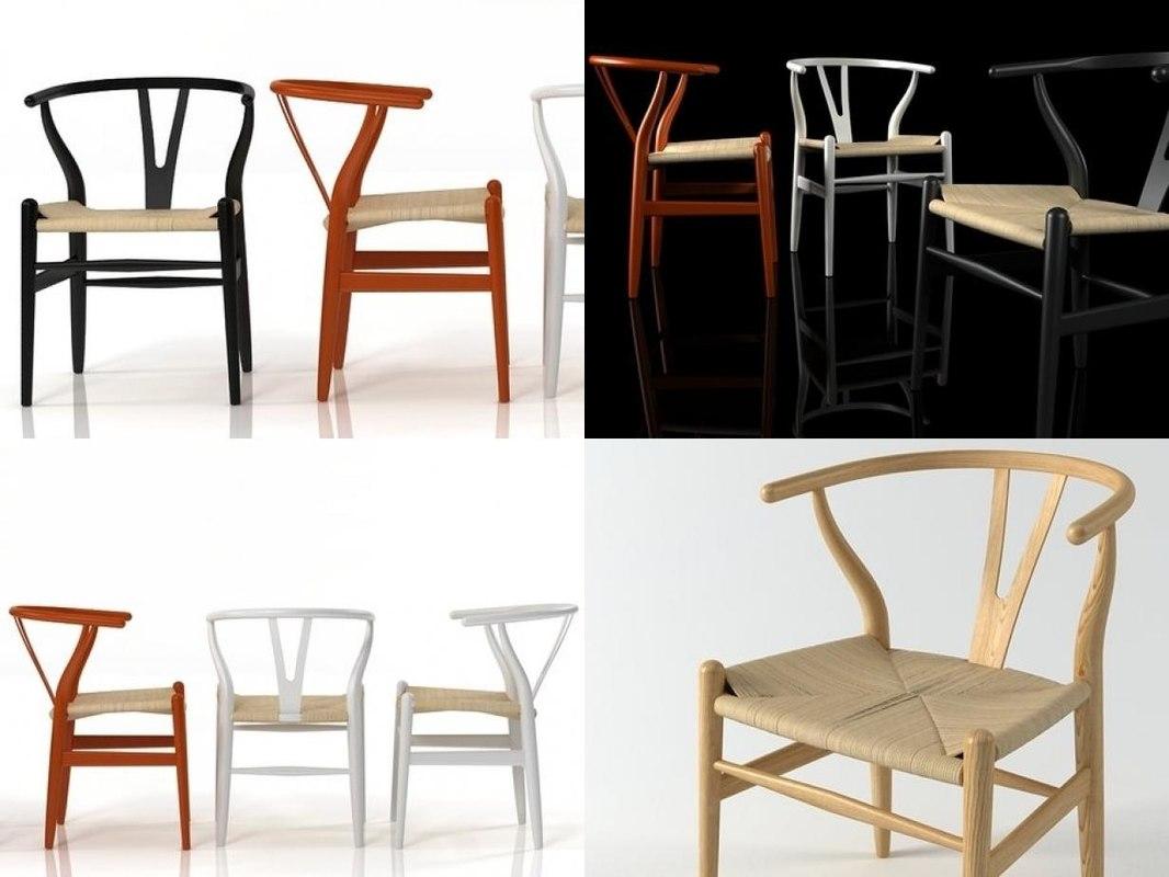 ch24 wishbone chair 3D