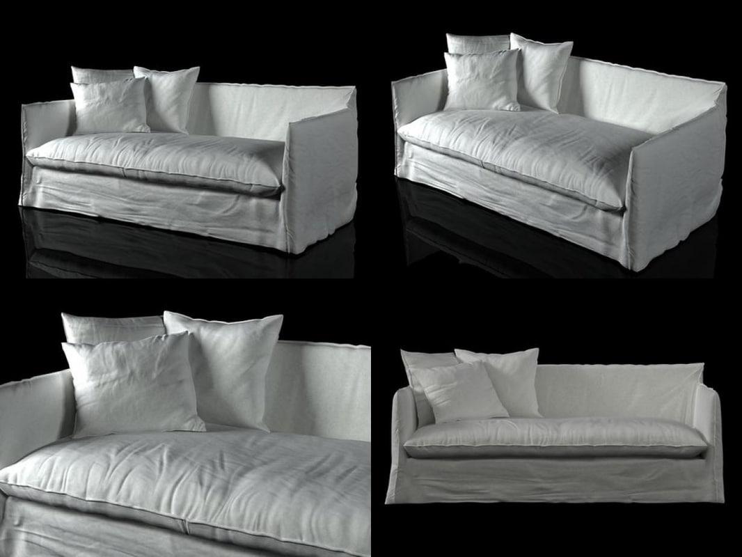 3D ghost 15 sofa model