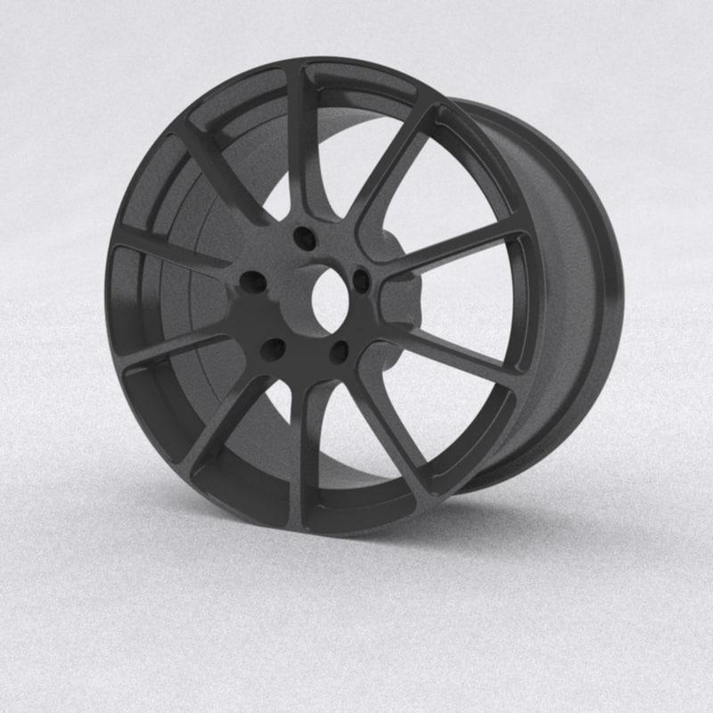 3D concept car rim model