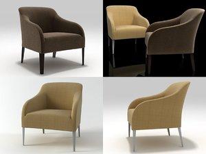 3D model apta armchair