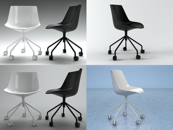 flow chair 5 legs 3D model
