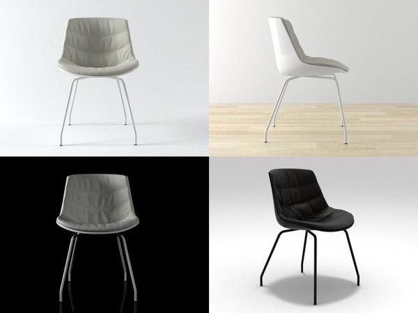 3D flow chair 4 legs model