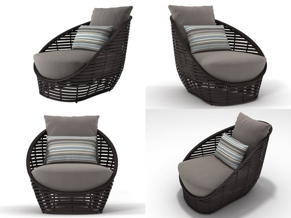 oasis lounge chair 3D model