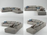 hills sofa 5 3D model