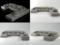 3D hills sofa 3