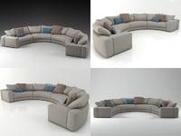hills sofa 1 3D model