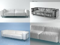 3D crystal twoseater sofa model
