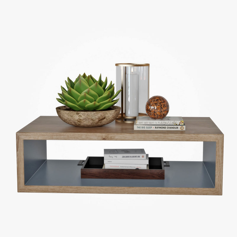 coffee table decor 3D model