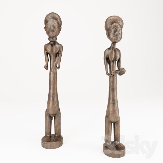 ethnic wooden 3D