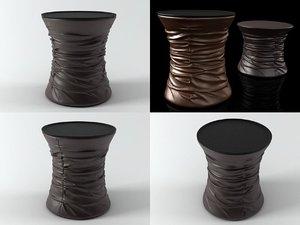 bellows table stool 3D model