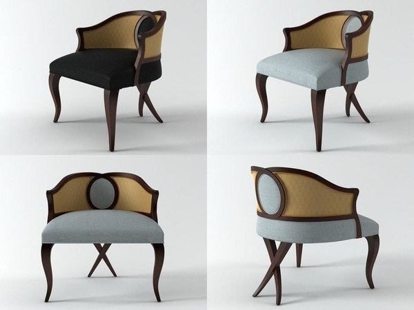 3D rolling curve occasional chair