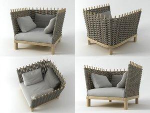 wabi armchair 3D model