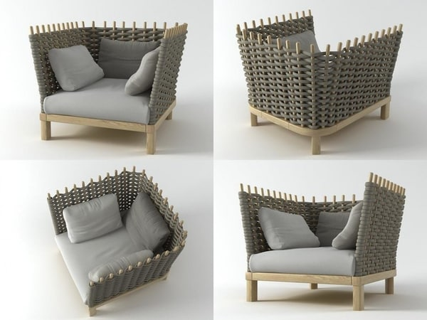 wabi armchair 3D model