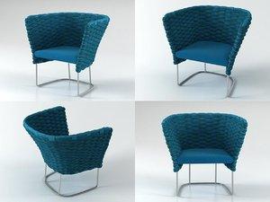 3D ami armchair 77 model