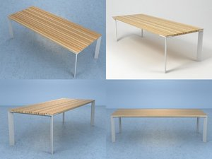3D sunset dining table