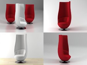 wanders tulip chair 3D model