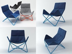in-out lounge chair 3D model