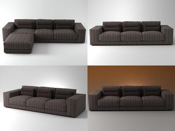 3D dieke sofa