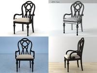 glen arbor armchair 3D model