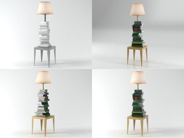 3D book look model