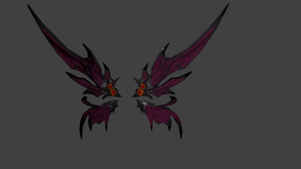 elsword - inkubus wings 3D model