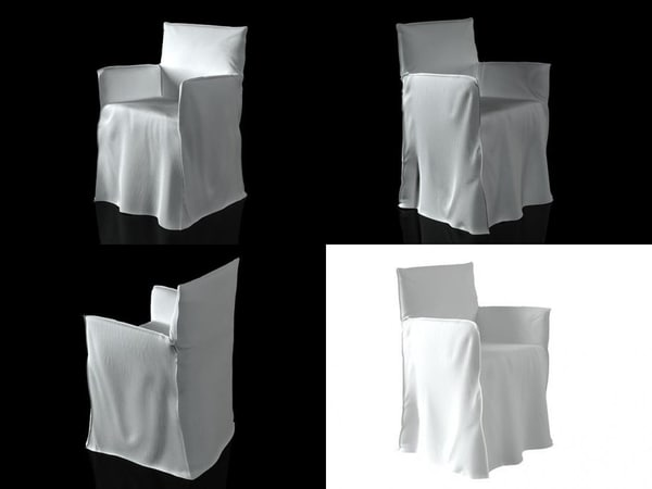 ghost 24 armchair 3D
