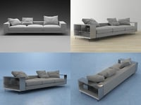 3D lightpiece sofa