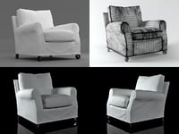 3D umberto armchair model