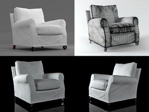 3D umberto armchair model
