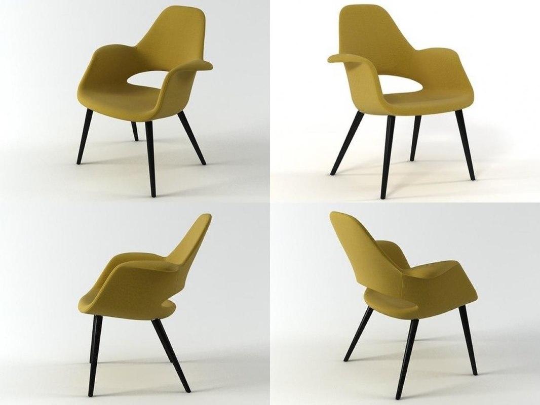 organic chair vitra 3D model