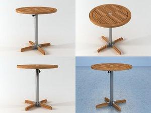 equinox 70 bistro table 3D model
