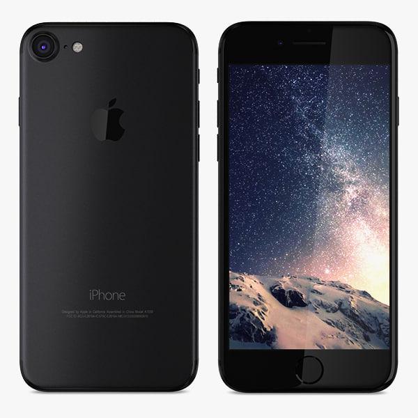 3D apple iphone 7 matte model