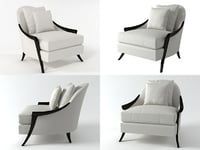 3D cala silhouette lounge chair model
